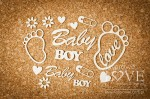 Tekturka - Stopy Baby Boy - Emma & Billy