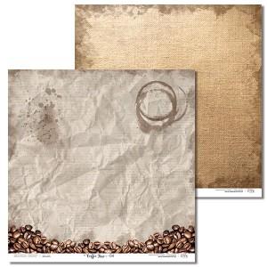 Papier 30x30 cm - Coffee Time - 04 Laserowe LOVE