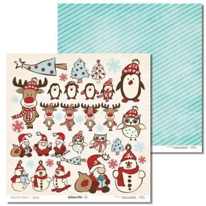 Papier 30x30 cm - Winter Fun - 01 Laserowe LOVE