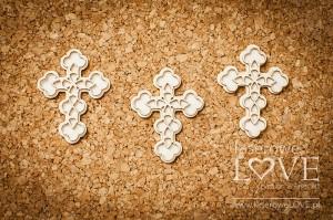 Tekturka - Ażurowe krzyże 3 szt. - Baby lily