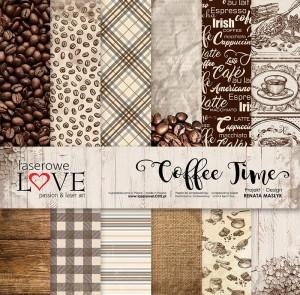 Zestaw papierów 30x30 cm - Coffee Time - Laserowe LOVE