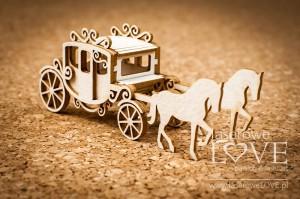 Tekturka - Karoca z końmi 3D - Wedding Day