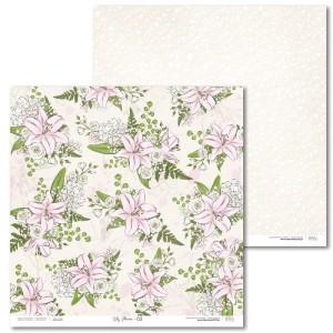 Papier 30 x 30 cm - Lily Flower - 03 - Laserowe LOVE