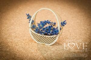 Tekturka - Koszyk okrągły - Sweet Lavender