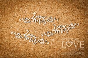 Tekturka - Żona Mąż  z ornamentami - Simple Wedding