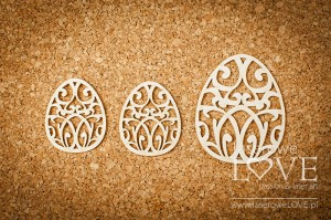 Tekturka - Pisanki ornament 3 szt. - Happy Easter