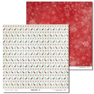 Papier 30x30 cm - Winter Fun - 03 Laserowe LOVE
