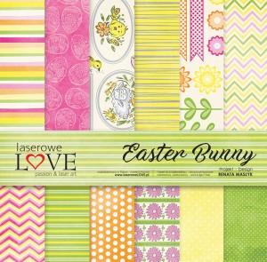 Zestaw papierów - Easter Bunny - 30,5 cm x 30,5 cm - Laserowe LOVE