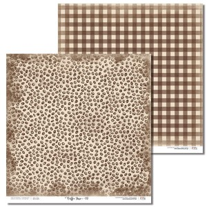 Papier 30x30 cm - Coffee Time - 02 Laserowe LOVE