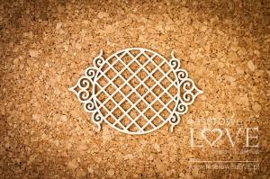 Tekturka - Ramka okrągła Paroles ornamenty szlacheckie siatka