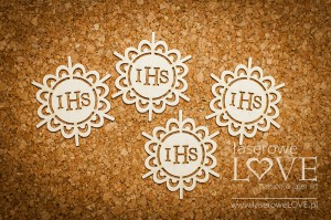 Chipboard - Host with oval elements -  Significato  4 pieces