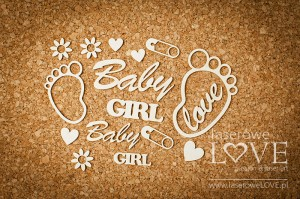 Tekturka - Stopy Baby Girl - Emma & Billy