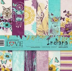 Zestaw papierów - Indiana  - 30,5 cm x 30,5 cm - Laserowe LOVE