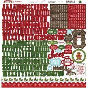Zestaw naklejek - The Story Of Christmas - Alpha Sticker - Echo Park