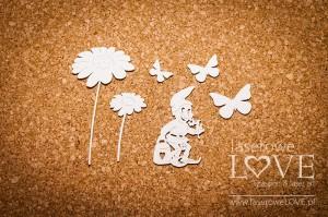 Krasnal Gimgos, kwiaty i motyle Fantasy