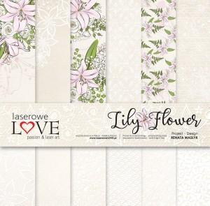 Zestaw papierów - Lily Flower - 30,5 cm x 30,5 cm - Laserowe LOVE