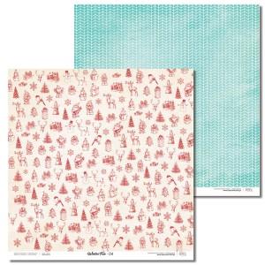 Papier 30x30 cm - Winter Fun - 04 Laserowe LOVE