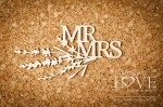 .Chipboard -  MR MRS - Sweet Lavender