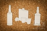Chipboard - Set of drinks - Vintage Gentelman
