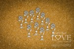 Chipboard - Chalices, 10 items - Holy & White