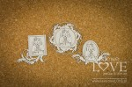 Chipboard - Frames with First Communion Girls - Holy & White