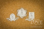 Chipboard - Frames with First Communion Boys - Holy & White