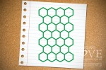 Rubber stamp - Honeycomb background Back to school