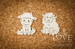 Chipboard - Boy with sheep - Emma & Billy
