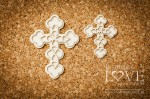 .Chipboard -  Crosses - Baby lily