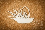 Chipboard - Basket with lavender - Sweet Lavender