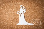 Chipboard-  Bride with flowers - Old Town