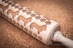Engraved rolling pin - Dogs
