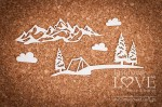 Chipboard - Mountain view - Forest Camp