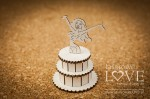 .Chipboard - Woman in the cake 3D - Rosa Italia
