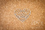 .Chipboard  -Openwork heart -  Old Town