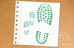 Rubber stamp - Shoe imprint- Forest Camp
