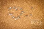 Chipboard -  Heart frame with a dandelion - Laiteron