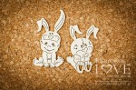 .Chipboard - Boy with rabbit - Emma & Billy