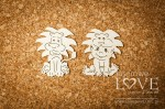 Chipboard - Boy with lion - Emma & Billy