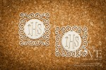 Chipboard - Host in a square, layered ornament- Significato 2 pieces