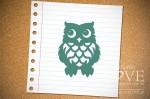 Rubber stamp - Owl Back to school