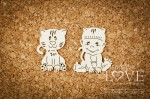 .Chipboard - Boy with a cat - Emma & Billy