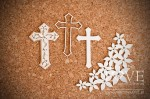 Chipboard - Crosses - Flower