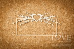 Chipboard - Frame with heart and lavender - Sweet Lavender