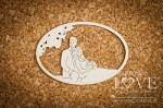 .Chipboard - Couple in love uder the tree - Wedding Day