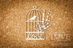 Chipboard - Cage with bird ad lavender - Sweet Lavender