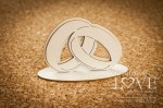 .Chipboard - Wedding rings 3D - First Love