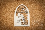 Chipboard - Wedding couple in window -  First Love