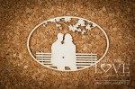 .Chipboard - Couple on the bench - Wedding Day