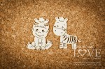 Chipboard - Boy with zebra - Emma & Billy